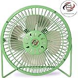 globalurja Sameeran Steel USB Power Efficient Kitchen Fan (Green, 7-inch)