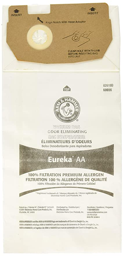 EUREKA 157888-6 Vacuum Bag, White