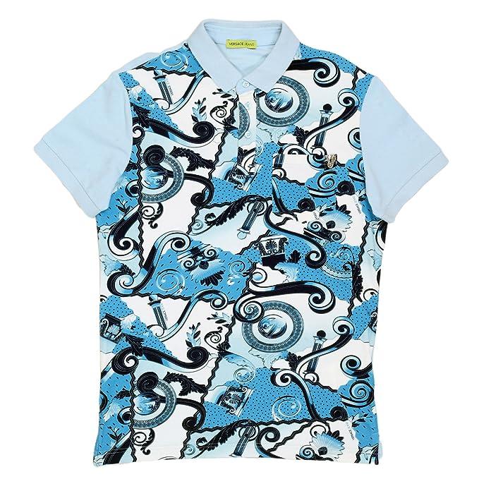 Versace Camiseta - Para Hombre Azul Azul Celeste XXX-Large