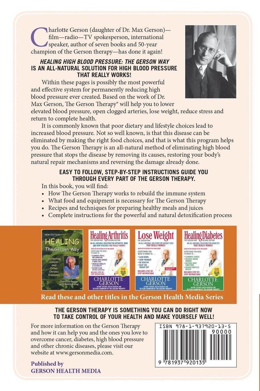 Healing high blood pressure the gerson way charlotte gerson healing high blood pressure the gerson way charlotte gerson 9781937920135 amazon books nvjuhfo Gallery