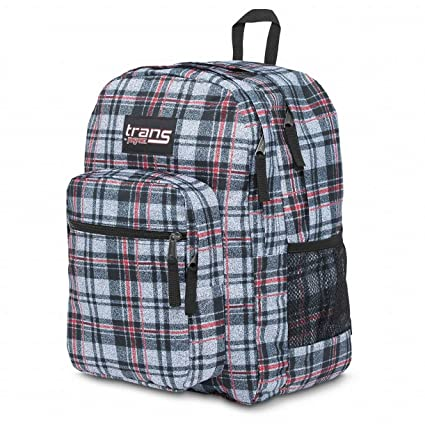 "dc96e794f Image Unavailable. Image not available for. Color: Trans By JanSport  17"" Black Plaid SuperMax Backpack ..."