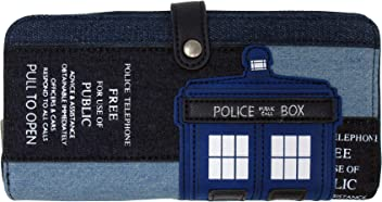 Loungefly x Doctor Who Tardis Denim Wallet