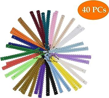 Cremalleras de encaje de nailon de 20 cm para coser bobina con extremo cerrado y cremalleras para coser manualidades 10 unidades