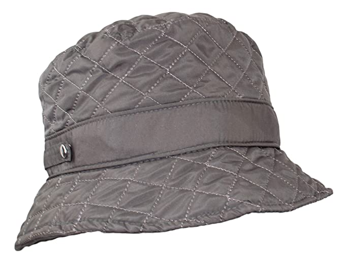 679750194d79f Amazon.com  Cute Quilted Accent Bucket Rain Hat