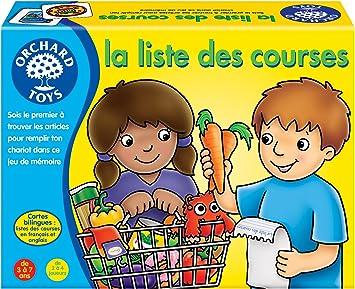 Orchard Toys – Lista de la Compra Juego de Memoria bilingüe (Inglés/Francés), 171: Amazon.es: Juguetes y juegos