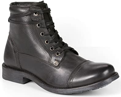 Levi's Maxwell Urban Black Mens Lace Up Mid Ankle Leather Army Shoes Boots -41