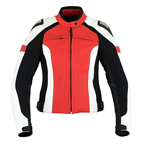 giacca donna bianco rosso nero