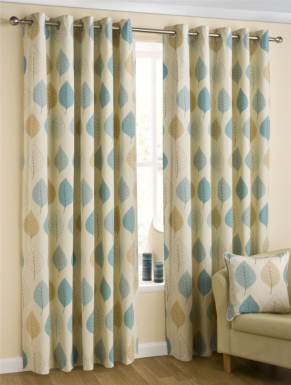 Amazon.de: Homescapes Moderne Vorhänge mit Ösen blickdicht Blaugrün ...