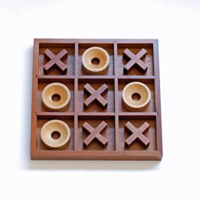 WE Games Tic-tac-Toe Wooden Board Game: Toys & Games