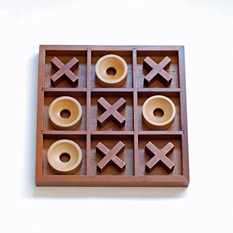 Amazoncom We Games Tic Tac Toe Wooden Board Game Toys Games