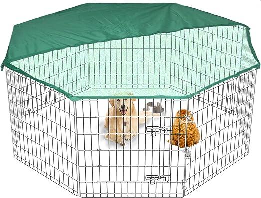 Gran Playpen Jaula de Jardín para Perros y Cachorros, Servicio pesado, 9 kg, 91 cm Tall, Desplegable, Interiores, Exteriores, Cubierta gratis, 8 Vallas: Amazon.es: Productos para mascotas