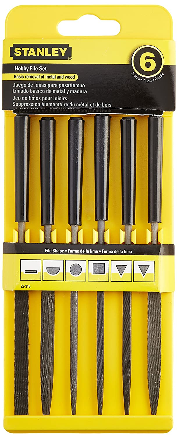 Stanley 22-316 5-1/2-Inch Hobby File Set, 6-Pack - Files And Rasps -  Amazon.com