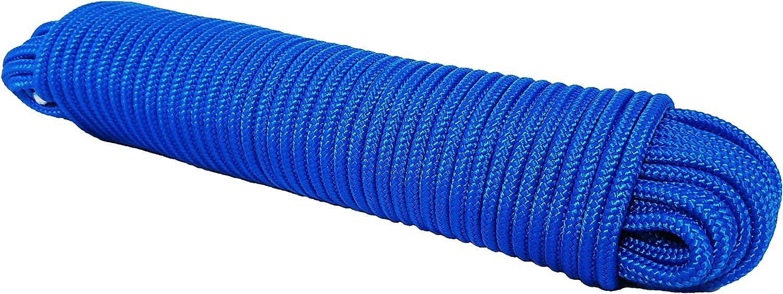 Polypropylen seil Polypropylenseil PP Tauwerk Festmacher Geflochten Leine Flechtleine Universalseil Geflochtenes Segeln Schnur Blau 10M 6mm