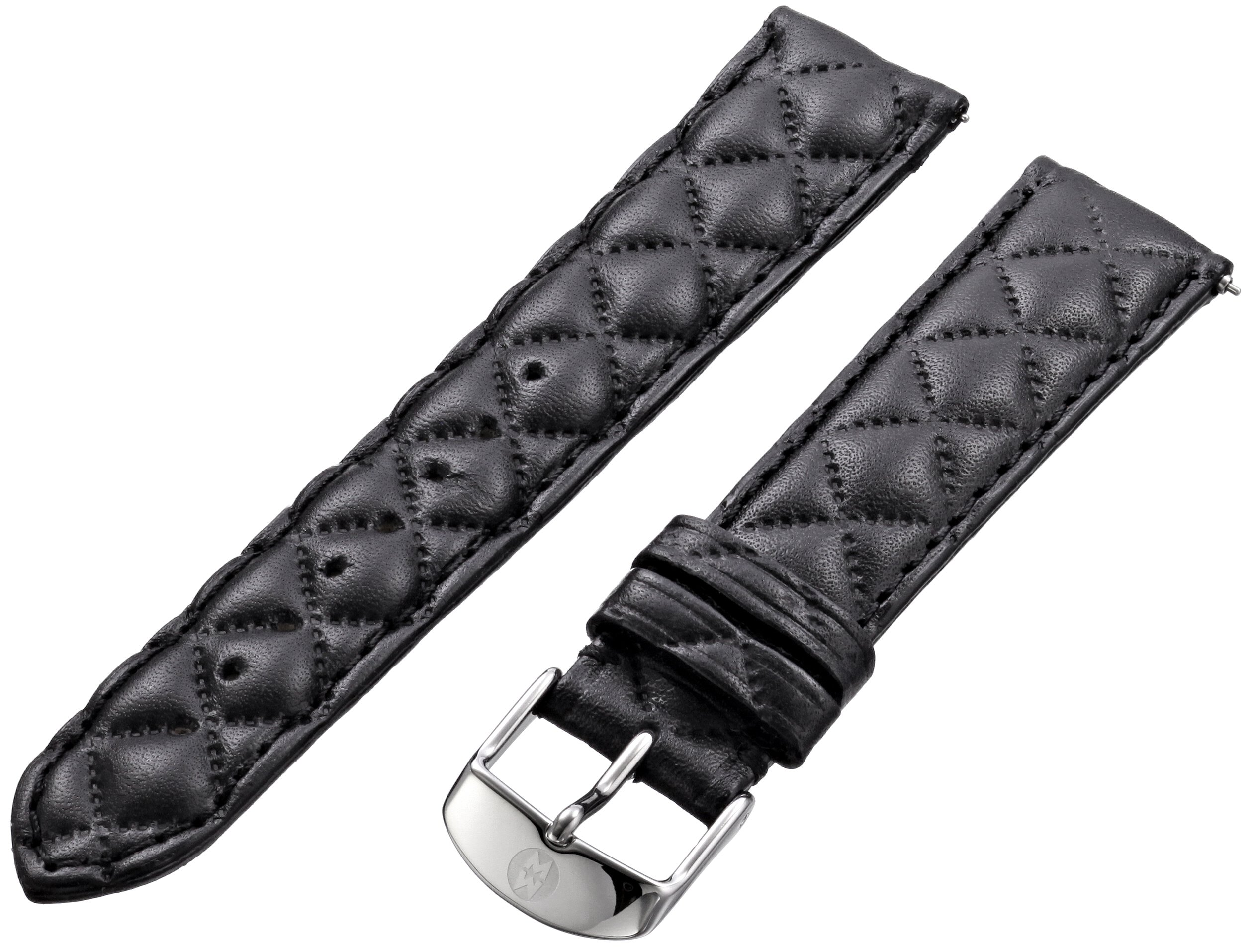 MICHELE MS16AA370001 16mm Leather Calfskin Black Watch Strap