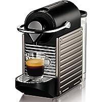Nespresso Krups Pixie XN 3005-Cafetera de cápsulas, 19 bares, apagado automático, ergonómica, inteligente, color Titan