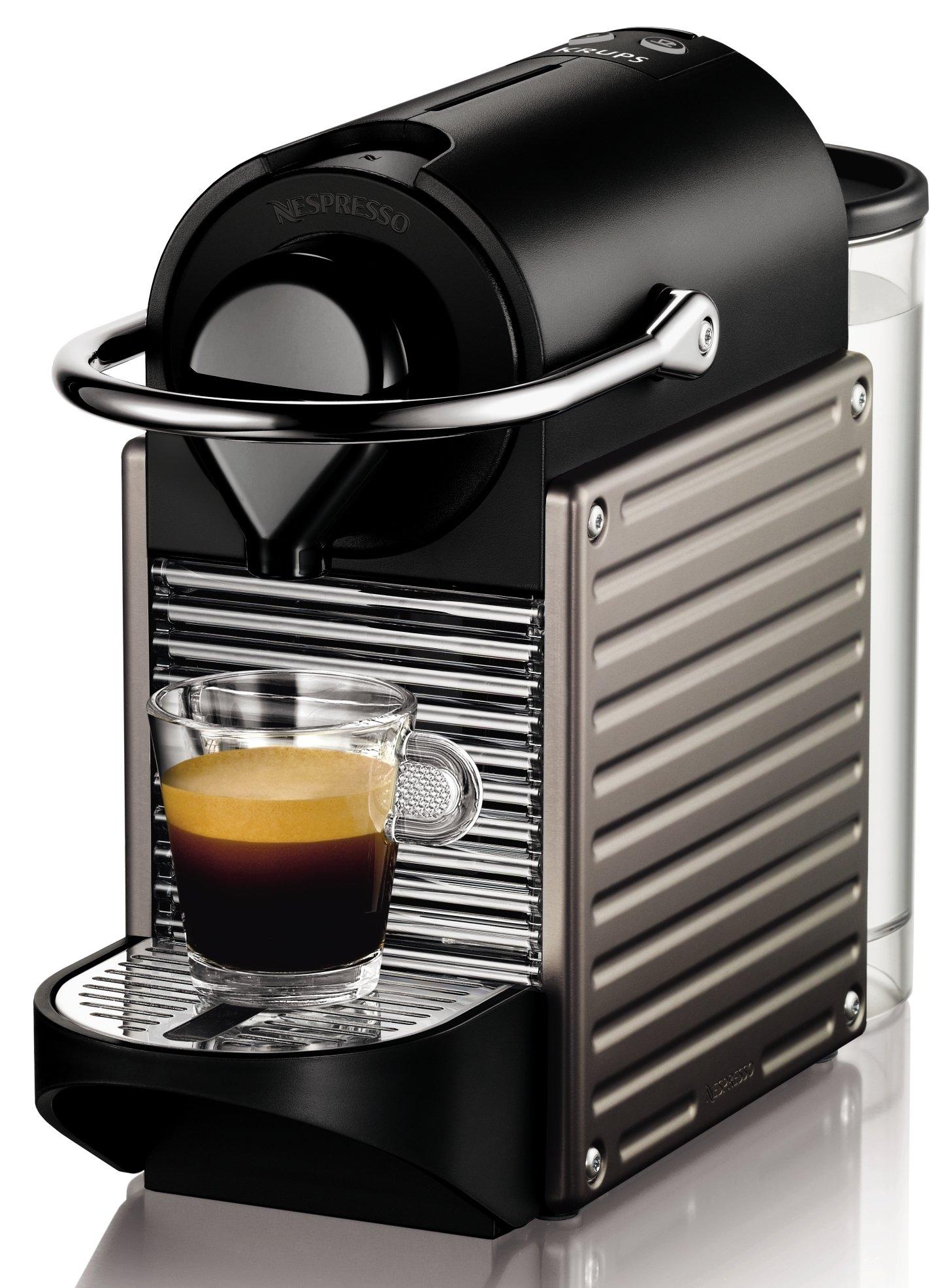Nespresso Krups Pixie XN3005 - Cafetera monodosis de cápsulas Nespresso, 19 bares, apagado automático