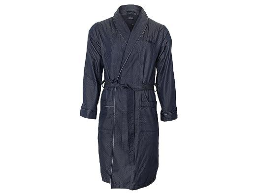 BOSS Hugo Men\'s Dressing Gown - Blue - Medium: Amazon.co.uk: Clothing