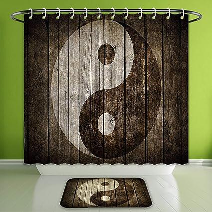 Amazon.com: Waterproof Shower Curtain and Bath Rug Set Ying ... on color design, er design, blue sky design, pi design, ns design, l.a. design, dj design, setzer design, dy design, berserk design,