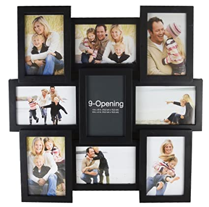 melannco 51844034 9 opening puzzle collage picture frame black
