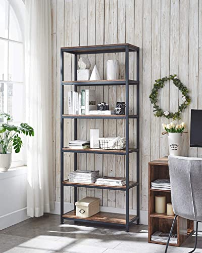 AMOAK Industrial Bookshelf and Bookcase 6 Tier Review