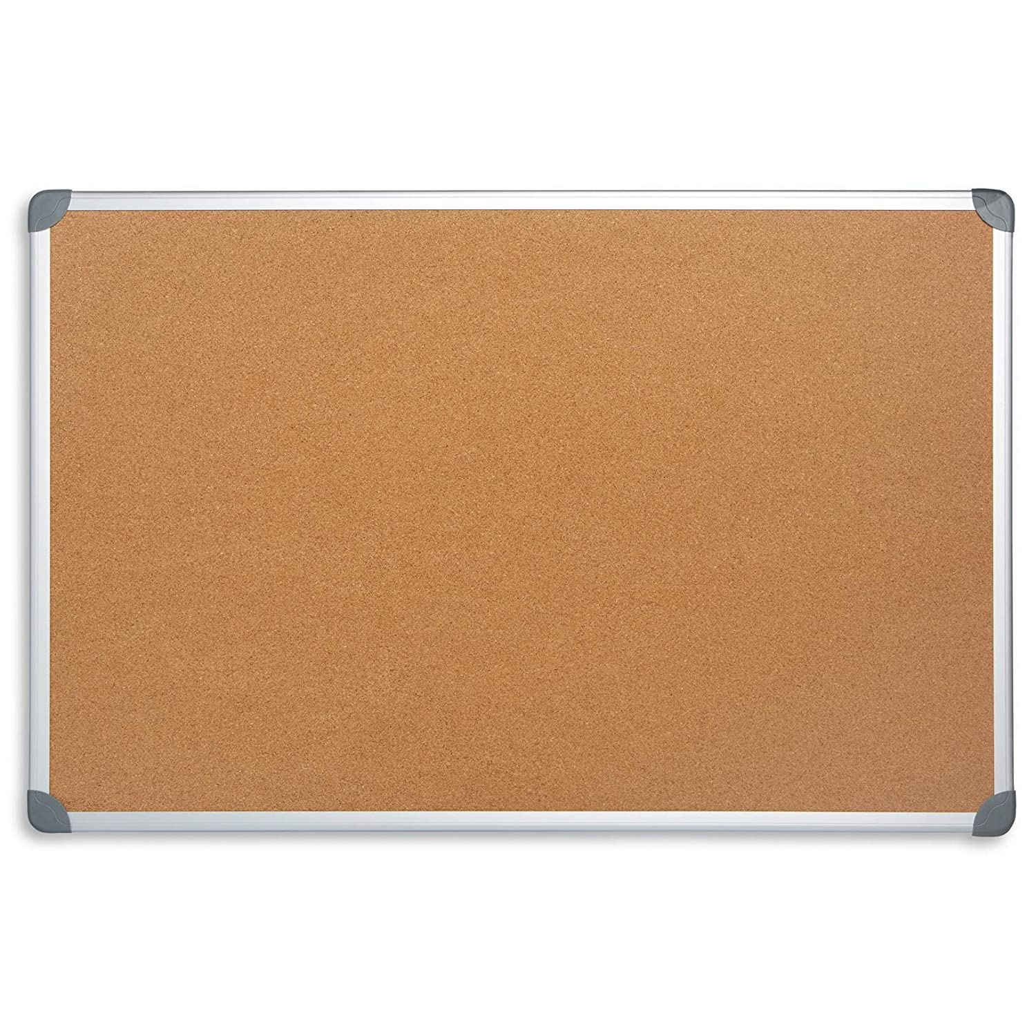 "Blue Summit Supplies 24"" x 36"" Corkboard with Aluminum Frame, Bulletin Board with Included Push Pins for Office, Classroom, or Home, Mounting Hardware Included"