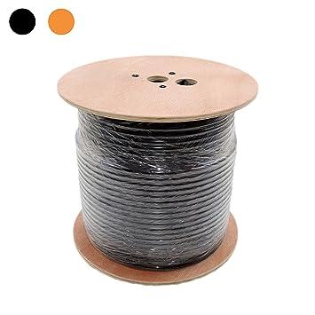 Cable coaxial RG11 Rollo de Cable de Triple protección bajo Tierra ...