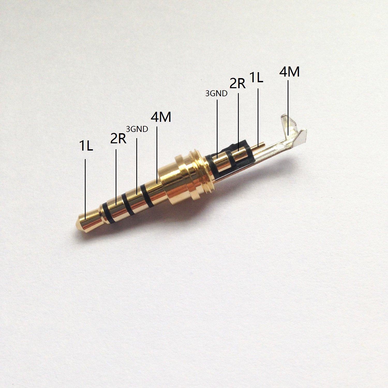 Timibis@ 4 Pole 3.5mm Male Repair Headphone Jack Plug