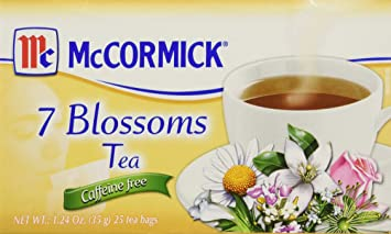 Amazon Com Mccormick 7 Blossoms Tea Caffeine Free 1 24 Oz