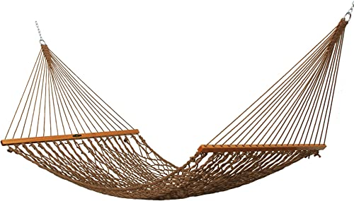 Original Pawleys Island 12DCAB Single Duracord Rope Hammock, Antique Brown