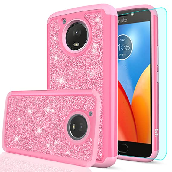 495ce63722f Amazon.com: Moto E4 Plus Glitter Case (USA Version) (Not Fit Moto E4 ...
