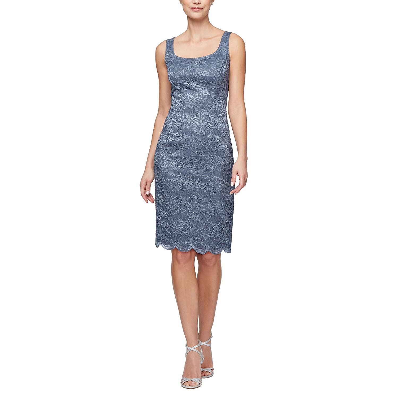 Women's With Alex Midi Dress Evenings Neck Size Plus Shift Scoop uPZOXTki