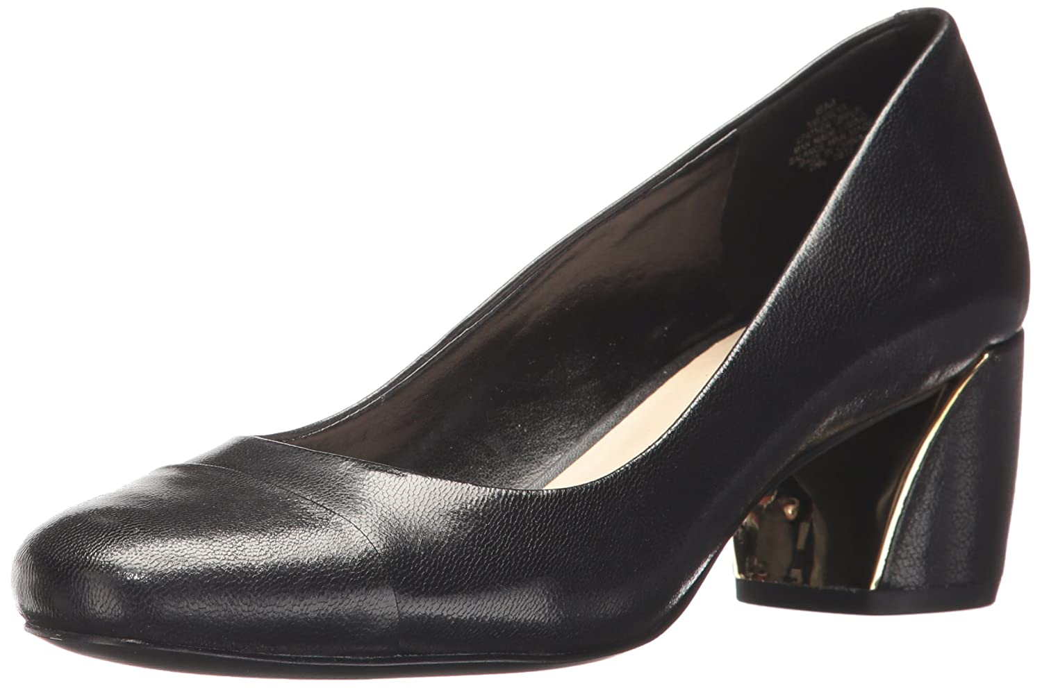 Nine West Women's Jineya Leather B0711HLGD8 6 B(M) US|Black Leather