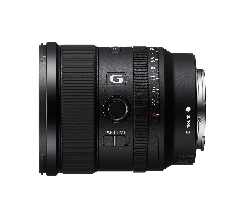 G Lens, 20 mm F1.8, Full Frame, para Video y Paisaje, Montura E, Dos Elementos AA - Advanced aspherical y 3 Elementos ED - Extra Low Dispersion Negro Sony SEL20F18G Objetivo Gran Angular