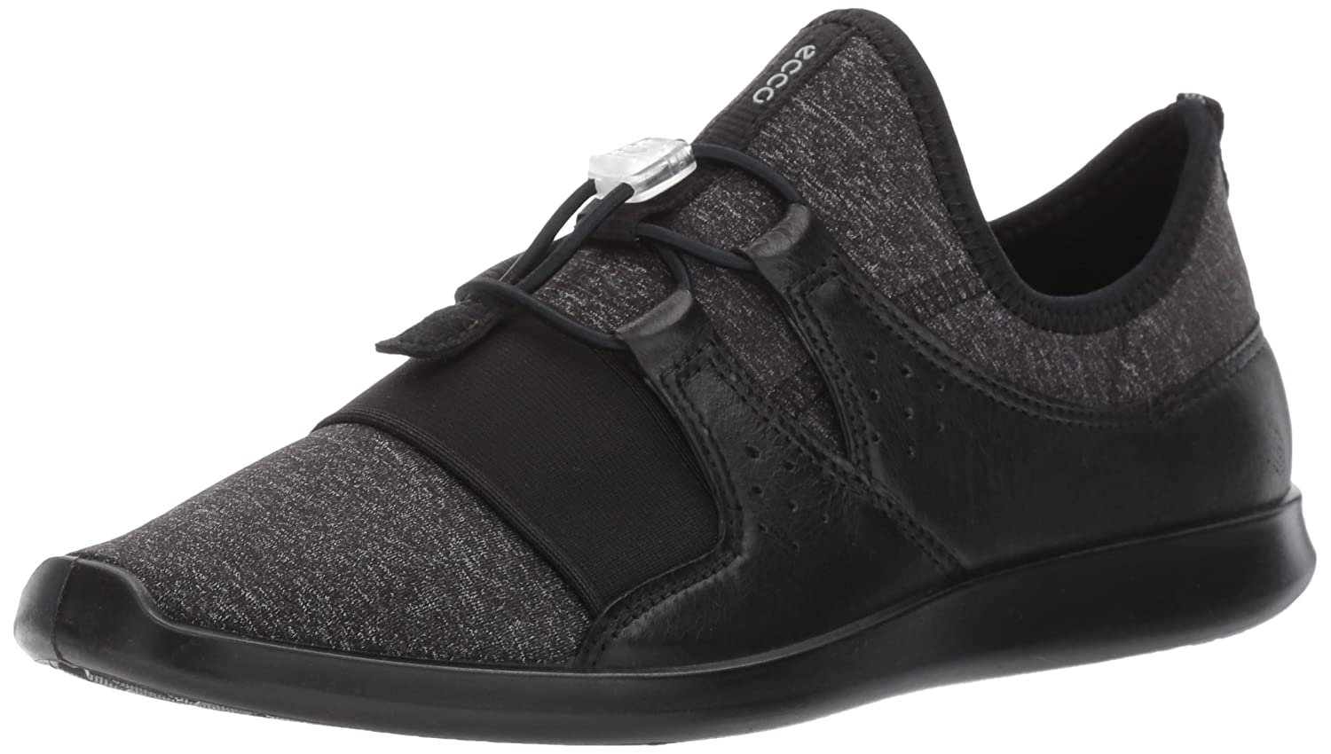 ECCO Women's Sense Elastic Toggle Fashion Sneaker B01MFBWGM0 42 EU / 11-11.5 US|Black/Black