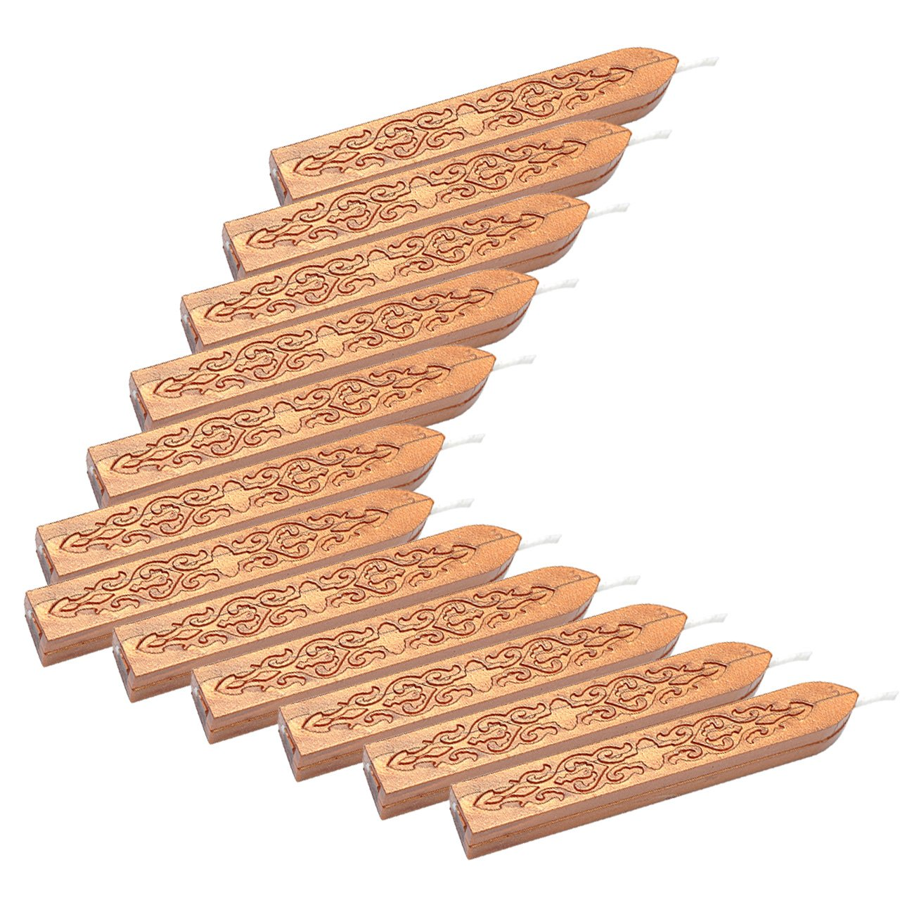 Mogoko - 12 bâtons de cire à cacheter avec mèches pour sceaux d'enveloppes style rétro MMUS2016712