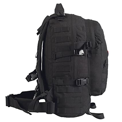 6d2b3ed02 Amazon.com : OneTigris 50L 3 Day MOLLE Tactical Military Assault Backpack  Outdoor Sport Camping Hiking Trekking Bushcraft EDC Survival Rucksack  (Black) ...