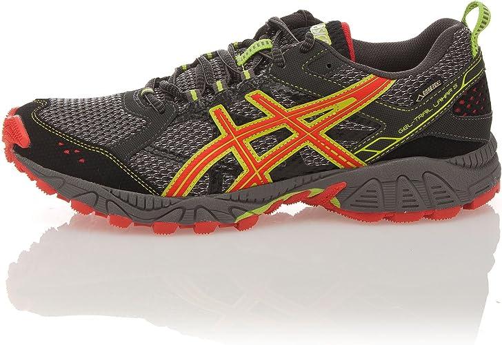 Asics Zapatillas Running Gel Trail Lahar 5 G-TX Gris/Naranja EU 48 (US 13): Amazon.es: Zapatos y complementos
