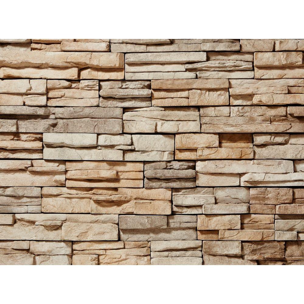 ClipStoneProstack Tan Flats 26-3/4 in. x 16 in. 8 sq. ft. Manufactured Stone (22-Piece per Carton)