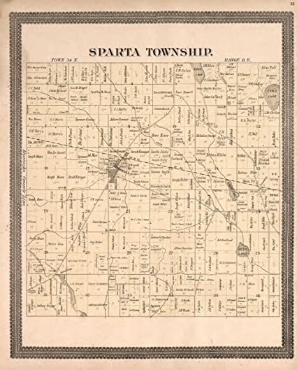 Amazon.com: Historic 1893 Map | Plat Book and Statistical ...