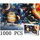 FLY2SKY Updated 1000 Puzzles for Adult Kids DIY Space Puzzles Space Astronaut Puzzles Cosmic Galaxy Space Shuttle Jigsaw…