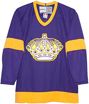 a317e6f0 Vintage Los Angeles Kings 1967 Purple CCM Jersey, Jerseys - Amazon Canada