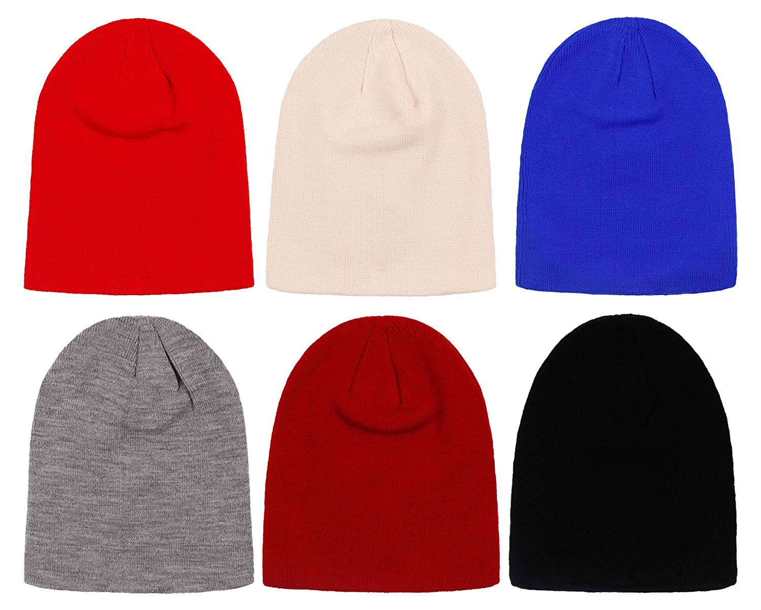 2ND DATE Women s Winter Beanie Knit Hat-Assorted-Pack of 6 at Amazon  Women s Clothing store  a62613e51383