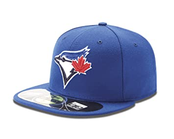 037fc5f8634 New Era Toronto Blue Jays 59FIFTY TSF Fitted MLB Cap Game  Amazon.co ...