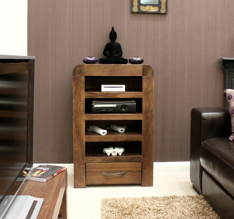 Baumhaus Shiro Walnut Entertainment Cabinet: Amazon.co.uk: Kitchen ...