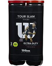 Wilson Tennisbälle, Tour Slam, 2 Dosen mit je 4 Bällen, Für alle Beläge, Gelb, WRT115302