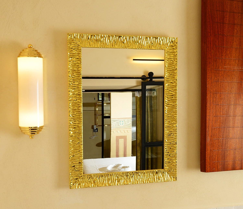 ameublement Art d/éco Salon Mur Chambre Salle Bain Cuisine entr/ée D/écoration Maison Elise Or GaviaStore Miroir Mural Moderne de la Plus Haute qualit/é 70x50 cm