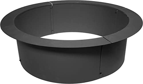 TITAN GREAT OUTDOORS 46″ Diameter Steel Fire Pit Liner Ring Heavy Duty DIY In-Ground Outdoor Build Your Own Bonfire