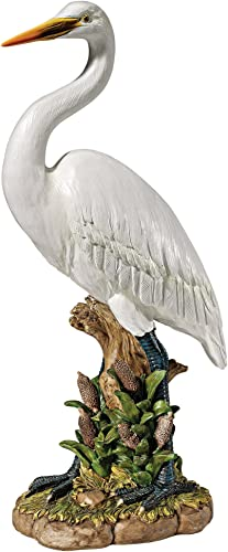 Design Toscano QL1558266 The Great White Egret Statue,full color
