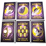 Isaac Asimov Robot Series 6 Books Collection Set (I, Robot, The Robots of Dawn, The Naked Sun, The Rest Of The Robots, The Ca