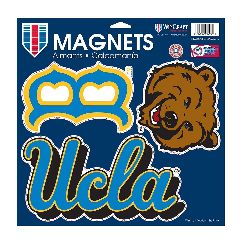 NCAA UCLA Bruins車/ファンマグネット、Large / 11 x 11インチ、ホワイト   B00MHHCRZK